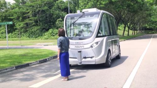 无人驾驶巴士Arma明年将在新加坡上路测试图片