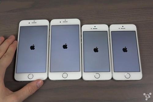 iphone 6s/6/se/5s开机速度对比:没有悬念