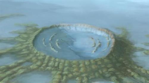 艺术示意图:奇克苏鲁布撞击坑立体结构